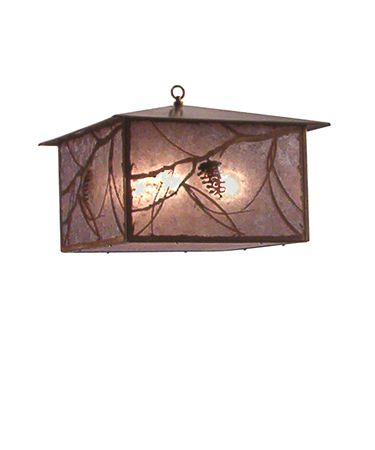 Shown in Antique Copper finish and Silver Mica glass